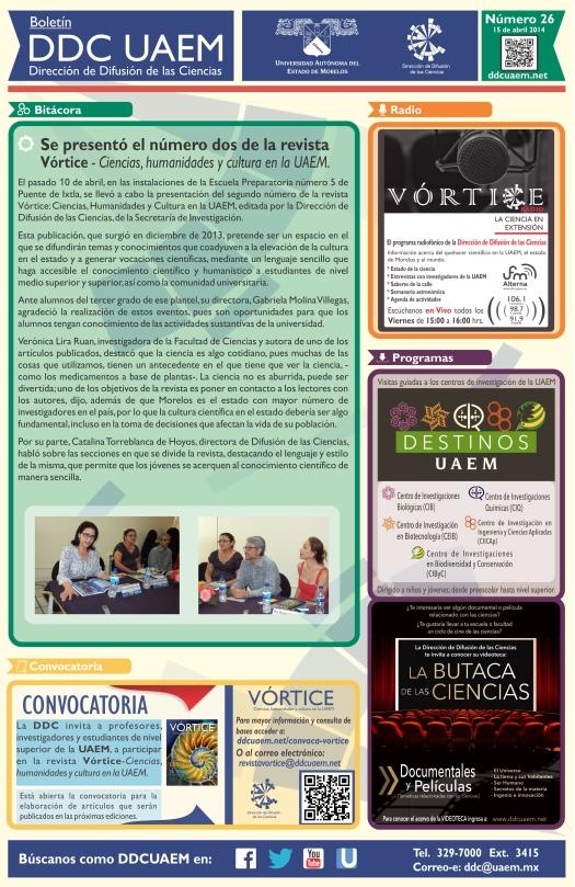 Boletín DDC 26 - RS